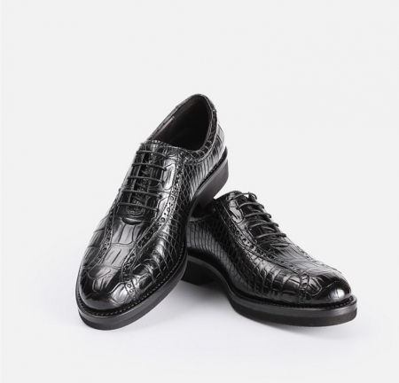 Alligator Lace up Oxford Dress Shoes-1