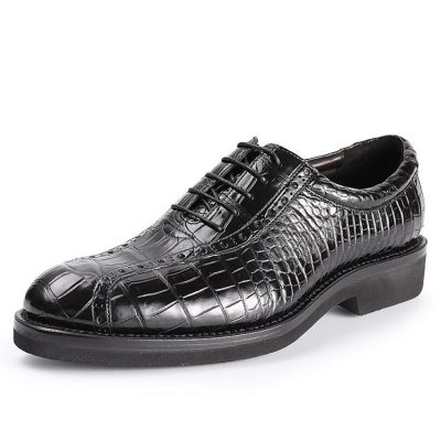 Alligator Lace up Oxford Dress Shoes