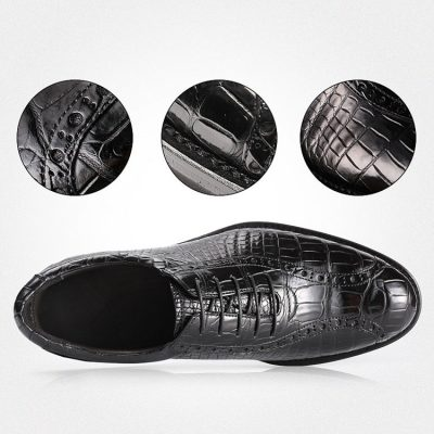 Alligator Lace up Oxford Dress Shoes-Details