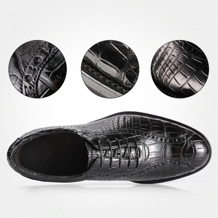 Alligator Lace up Oxford Dress Shoes-Details