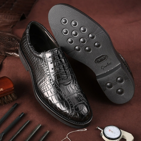 Alligator Lace up Oxford Dress Shoes-Exhibition-1