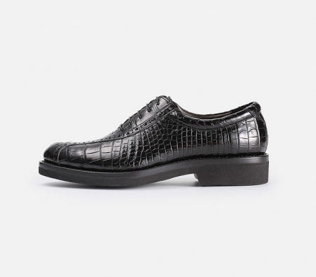 Alligator Lace up Oxford Dress Shoes-Side