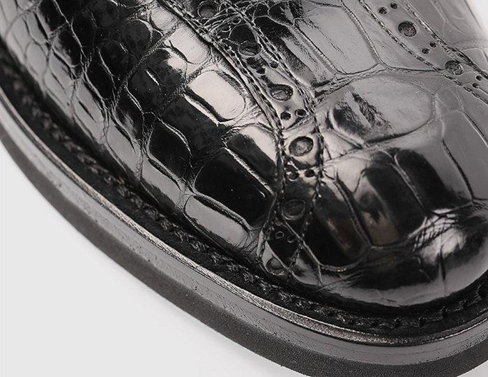 Alligator Lace up Oxford Dress Shoes-Top Shape