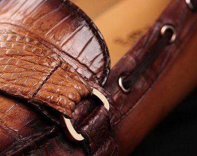 Brown Alligator Slip-on Loafer-Details-1