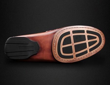 Brown Alligator Slip-on Loafer-Sole