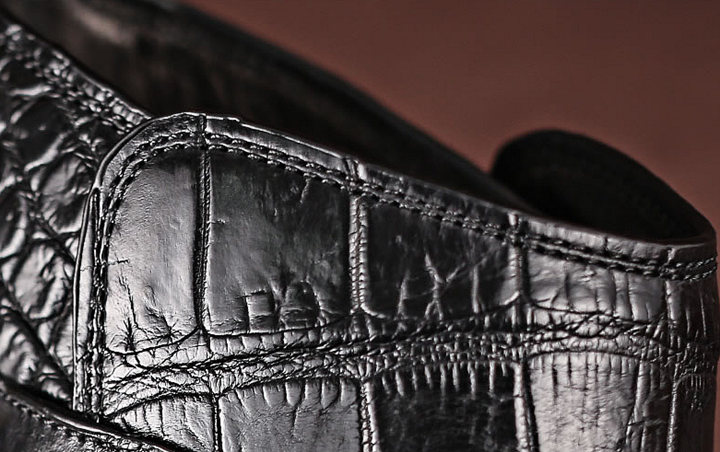 Casual Alligator Dress Boots with Buckles-Details