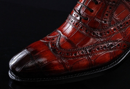 Casual Alligator Skin Wingtip Dress Shoes-Details