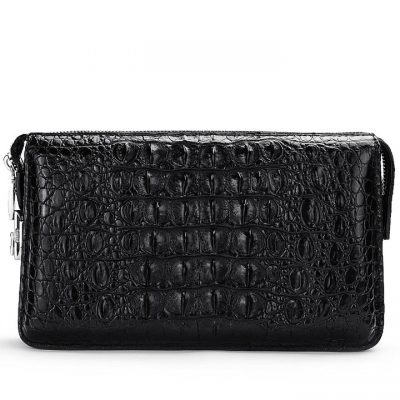 Casual Crocodile Anti-theft Lock Wallet for Men-Back