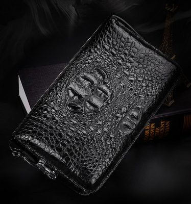 Casual Crocodile Anti-theft Lock Wallet for Men-Exhibition