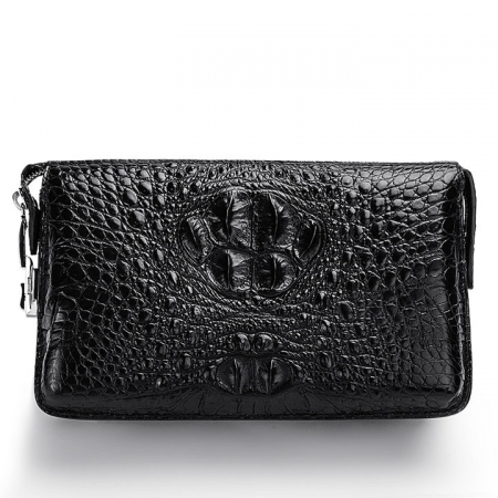 Casual Crocodile Anti-theft Lock Wallet for Men-Front