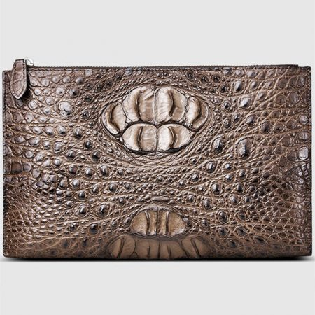 Casual Large Crocodile Clutch Wallet-Front