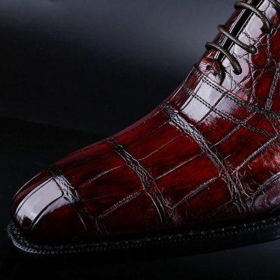 Classic Alligator Skin Lace Up Dress Shoes-Details