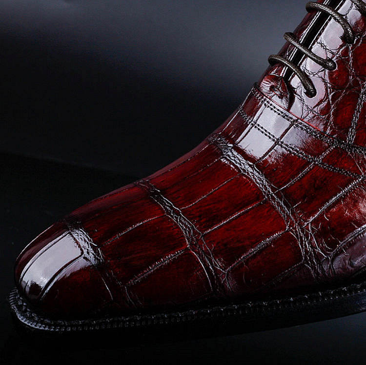 Classic Alligator Skin Lace Up Dress Shoes-Details