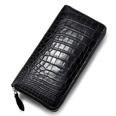 Classic Alligator Zip Around Wallet