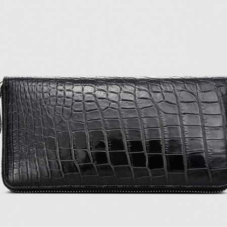 Classic Alligator Zip Around Wallet-Left