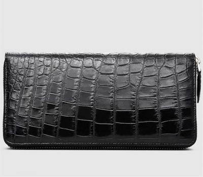 Classic Alligator Zip Around Wallet-Right