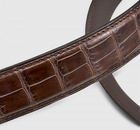 Classic Genuine Alligator Skin Belt for Men-1
