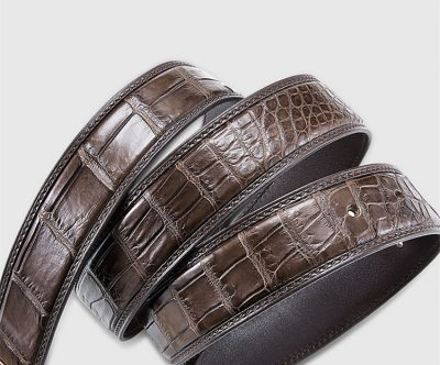Classic Genuine Alligator Skin Belt for Men-3