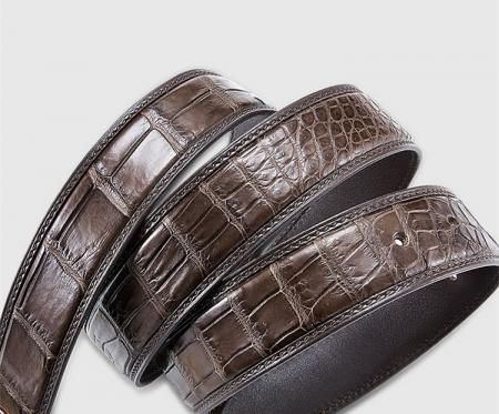 Classic Genuine Alligator Skin Belt for Men-3