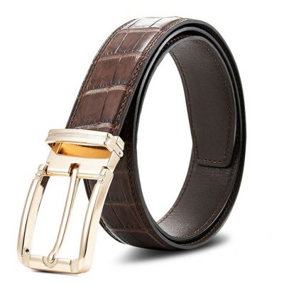 Classic Genuine Alligator Skin Belt for Men
