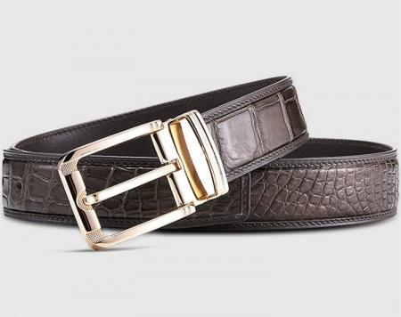 Classic Genuine Alligator Skin Belt for Men-Lay