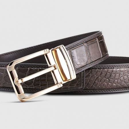 Classic Genuine Alligator Skin Belt for Men-Lay