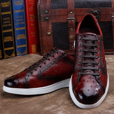 Daily Fashion Ostrich Lace-up Sneaker