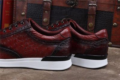 Daily Fashion Ostrich Lace-up Sneaker-Heel
