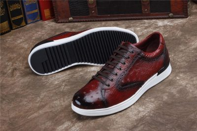 Daily Fashion Ostrich Lace-up Sneaker-Sole