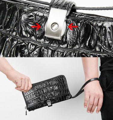 Fashion Crocodile Clutch Wallet, Crocodile Long Bifold Wallet-2