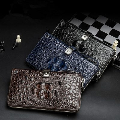 Fashion Crocodile Clutch Wallet, Crocodile Long Bifold Wallet-Exhibition