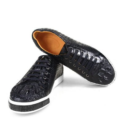 Fashion Crocodile Skin Shoes, Crocodile Sneakers-2