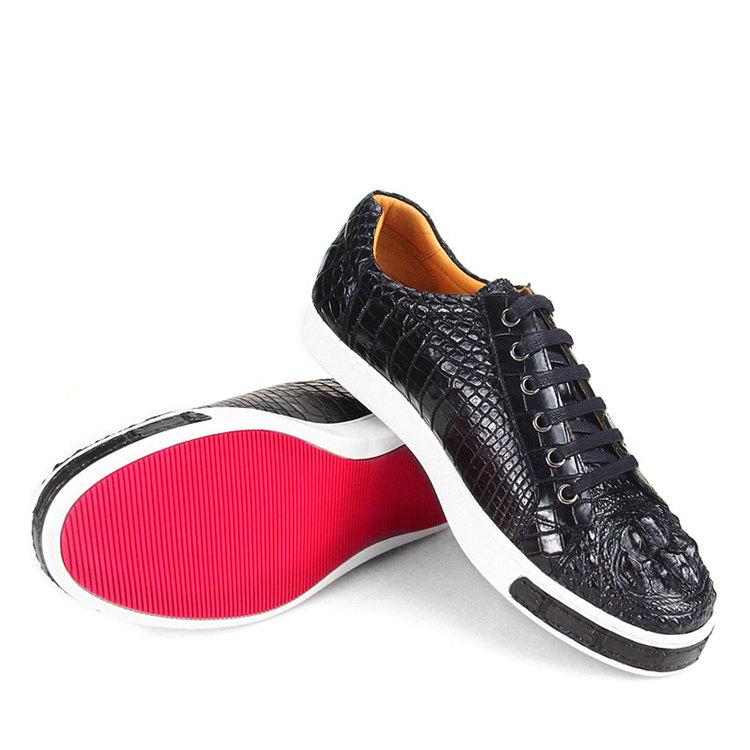 Fashion Crocodile Skin Shoes, Crocodile Sneakers-3