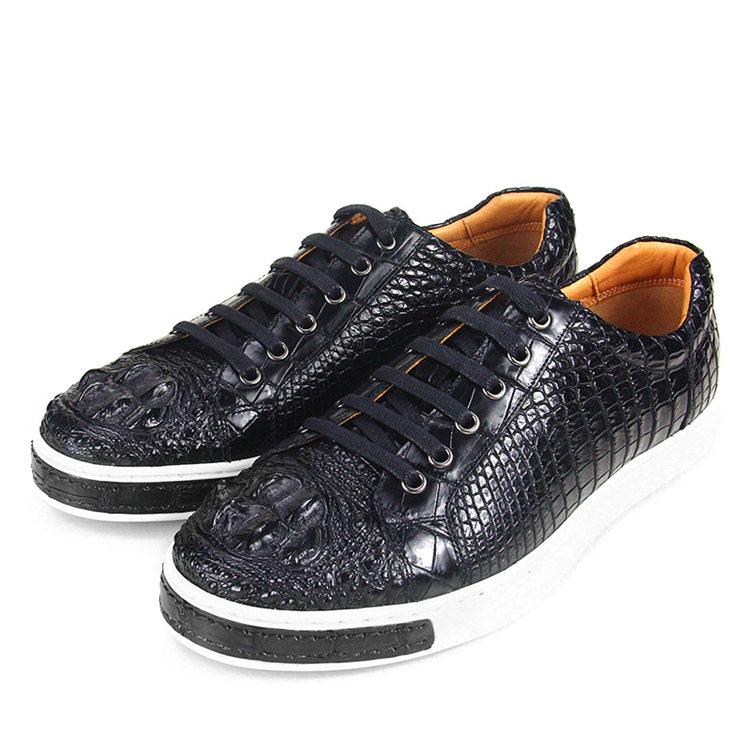 Fashion Crocodile Skin Shoes, Crocodile Sneakers-4