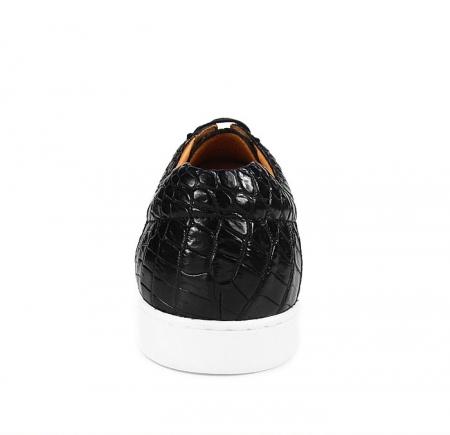 Fashion Crocodile Skin Shoes, Crocodile Sneakers-Heel