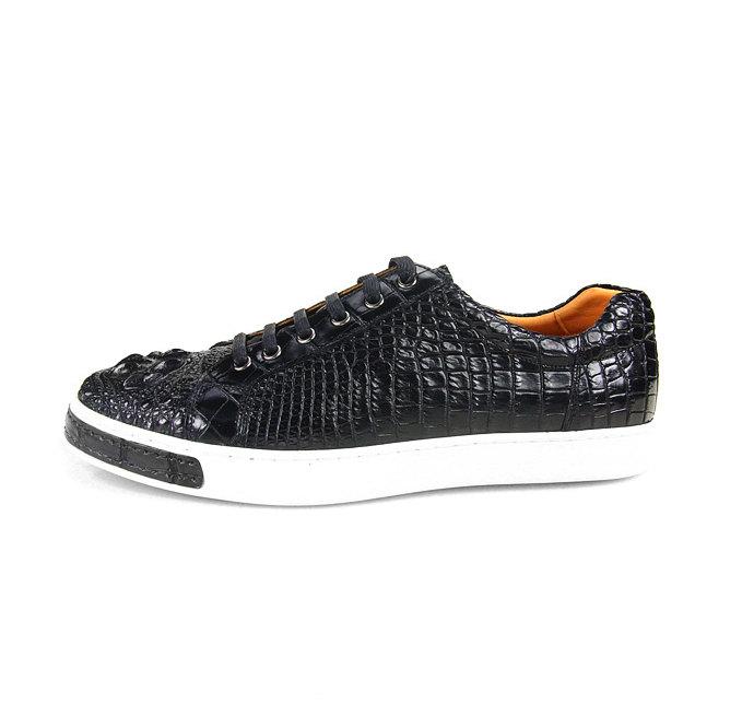 Fashion Crocodile Skin Shoes, Crocodile Sneakers-Side