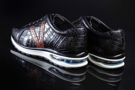 Fashion Running or Walking Alligator Shoes for Casual Outfits-Heel