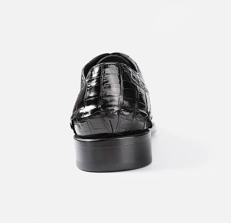 Formal Crocodile Skin Shoes-Details