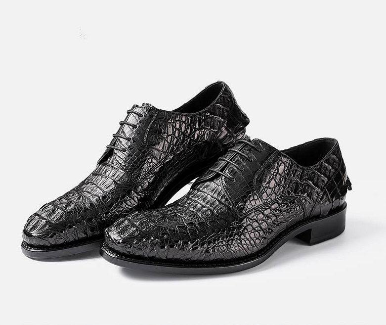 Formal Crocodile Skin Shoes-Exhibition