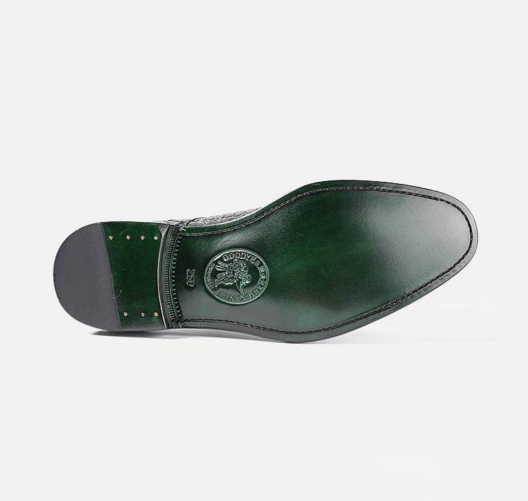 Formal Crocodile Skin Shoes-Sole