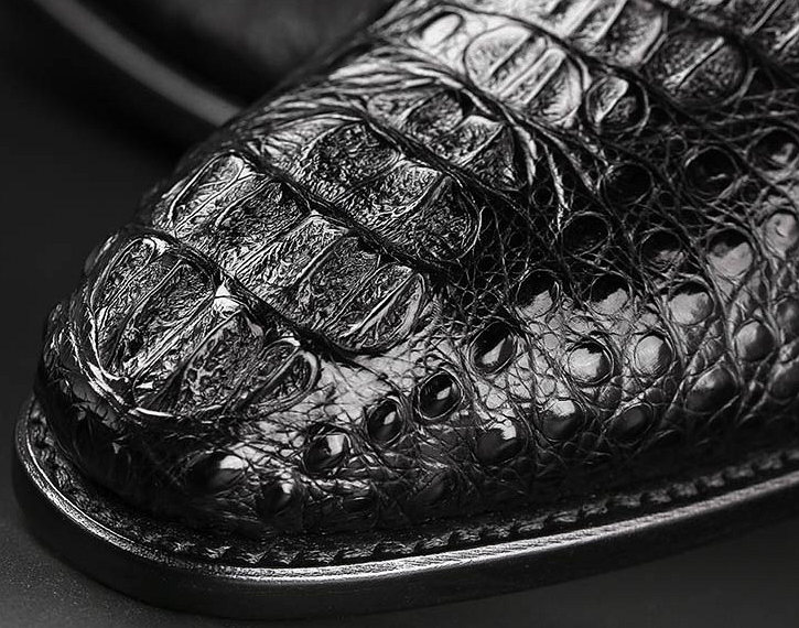 Formal Crocodile Skin Shoes-Top