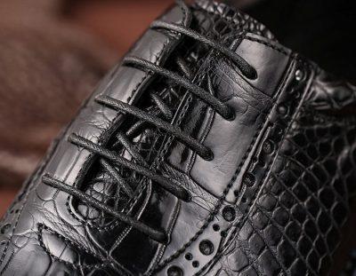 Genuine Alligator Leather Dress Formal Shoes-Lace-Up