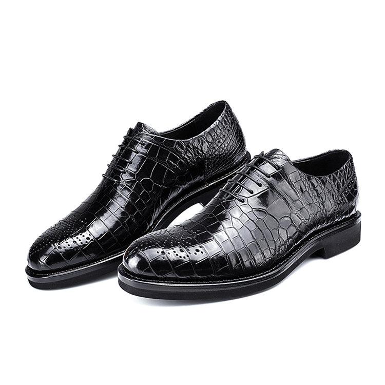 Genuine Alligator Skin Formal Dress Shoes-1