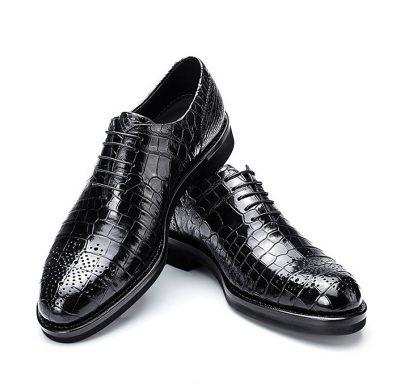 Genuine Alligator Skin Formal Dress Shoes-2