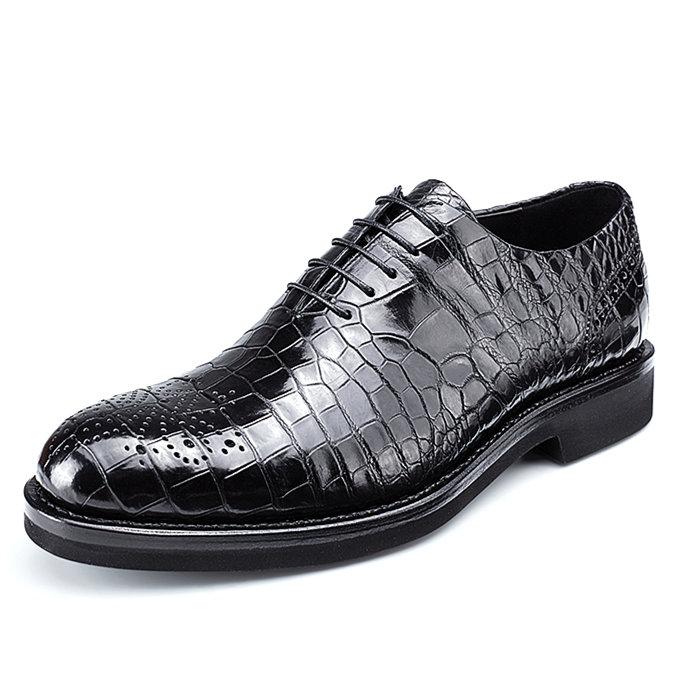 Genuine Alligator Skin Formal Dress Shoes