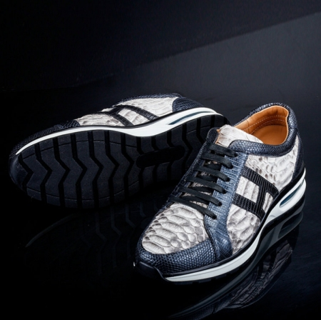 Genuine Snakeskin Air Sports Athletic Running Shoes-Sole