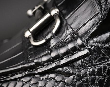 Handmade Alligator Boat Shoes-Details