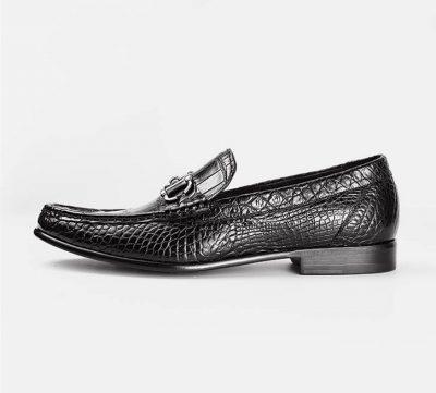 Handmade Alligator Boat Shoes-Side