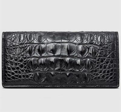 Handmade Long Crocodile Wallet-Front
