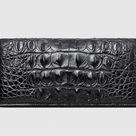Handmade Long Crocodile Wallet-Front